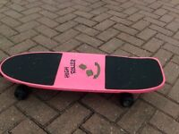 HIGH ROLLER METEOR LITE SKATEBOARD UNUSED BUT NOT PERFECT, IN PINK
