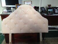 As new single bed base and head board