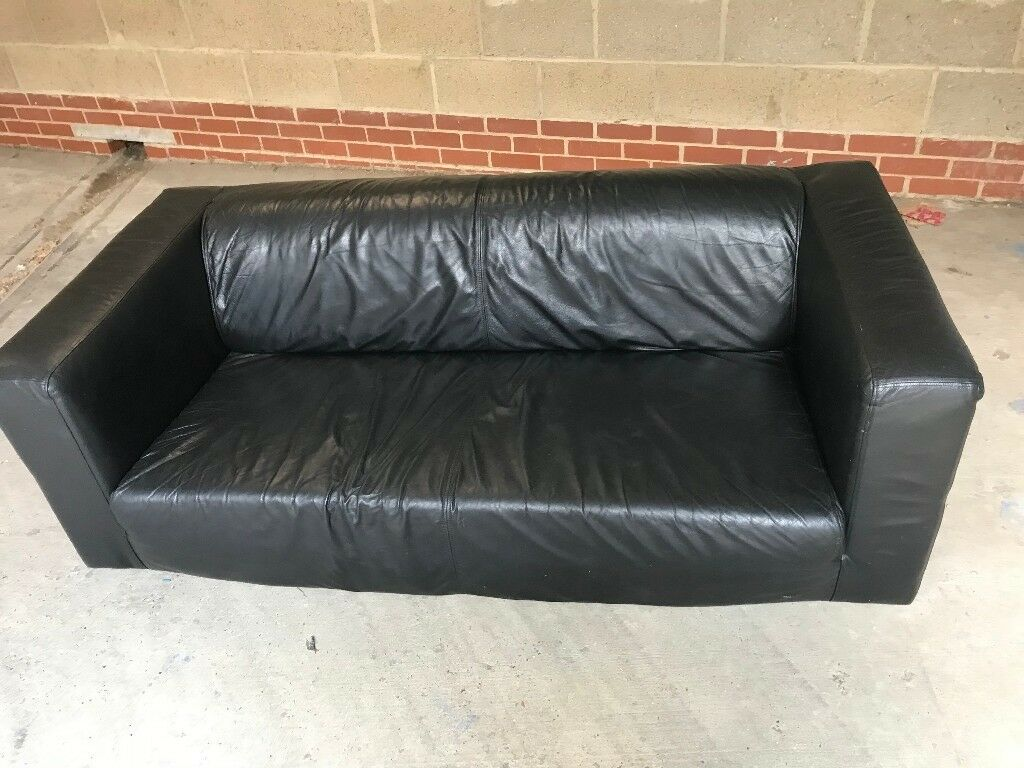 Amazing Ikea Leather Klippan Sofa Black Free Delivery Good Condition In Bermondsey London Gumtree Machost Co Dining Chair Design Ideas Machostcouk