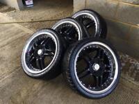 "Wolf race 17"" alloys& tyres"