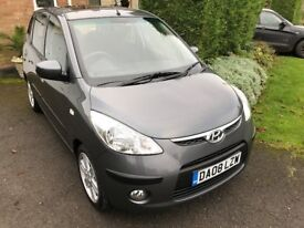 Hyundai i10 Style 5dr '08' Only 42400 miles 5 speed Manual . Petrol . HPI Clear