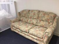 Floral Brocade Sofa