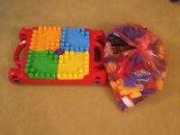 Mega Bloks Table with bag of bloks