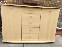 Sideboard beech/pine look FREE to collector - VGC