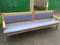 Large wooden bench / sofa