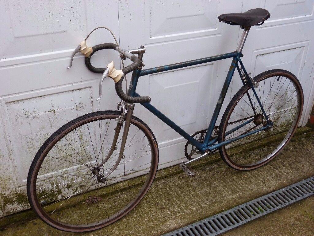 """1946 Dawes Reynolds DB 531 fixed gear - 56cm ctt - 26"""" wheels - vintage classic eroica"""