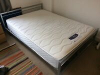 Jay-be metal double bed frame silver - VGC
