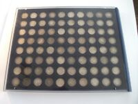 80 x Pre-1920 Silver Threepence (3d) Coins in Case ~ Please See Photo's To View
