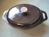 Professional Prepara Cast Iron Black Casserole Dish With Lid, 32cm, 6 litre - brand-new