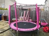 8ft Pink Trampoline