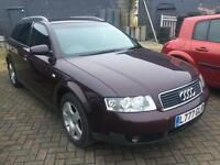 SALE! Bargain Audi A4 1.9 tdi estate, long MOT, service history with timing belt
