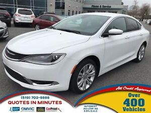 2015 Chrysler 200 LIMITED   HEATED SEATS   ALLOYS   LOW KM!
