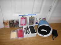 Iphone 4S Black 8gb O2 Immaculate Condition Boxed All Accessories, Docking Speaker & Phone Cases