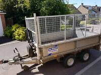 Ifor Williams LT85g flatbed trailer, with winch