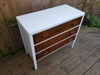 Wood vintage haberdashery drawers / chest of drawers