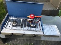 Excellent condition 2 gas burners and grill