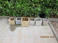 Indoor or outdoor polished granite plant pot holders