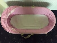 Baby basket with stand pink colour