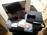 Boxed Play Station 3 with 5 games