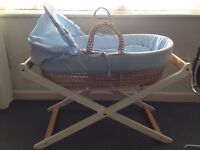 crib moses basket baby boy girl