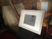 Three Ikea picture frames 78.5 x 58 cm