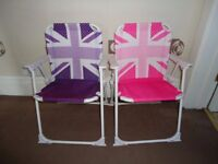 2 Kids Garden Chairs