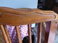 Walnut wooden babies cot