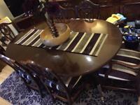 Extendable antique table set