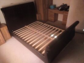 KINGSIZE SLEIGH BED. FREE DELIVERY.
