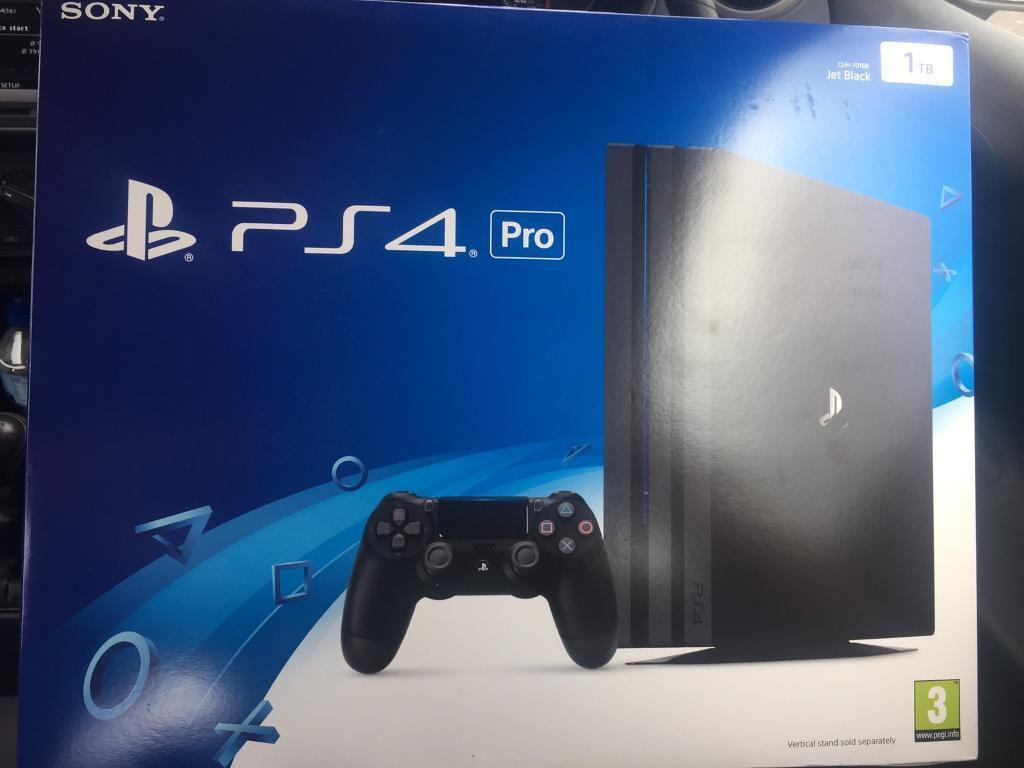 PS4 Pro Console 1TBin Enfield, LondonGumtree - Completely brand new and untouched, just an unwanted gift and looking to sell