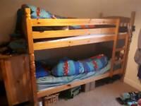 Pine Bunk beds seperate beds