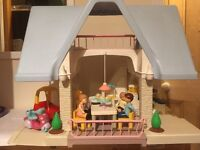 Fantastic little tikes dolls house Christmas present with furniture, car, bike and people