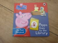 Peppa Pig My First Storybook: Peppa Goes to the Library - Children's book - ideal present