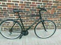 Ridgeback Anteron Hybrid Bike/black 53cm frame/24 gears/700cc wheels fully working