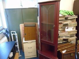 mahogany coloured corner unit.