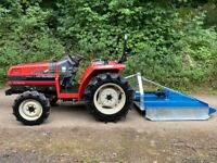MITSUBISHI MT245 4WD Compact Tractor & New Topper Mower *** NICE TRACTOR *** ** 984 Hours ** 24HP