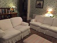 white 3 Piece Suite / Sofa