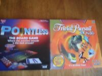 pointless and childrens trivial pursuit 8-12 both in very good condition
