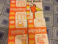 Counting/Writing/Alphabet/First Words practice book 3-5 years