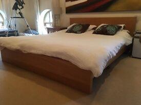 IKEA Malm oak king size bed frame