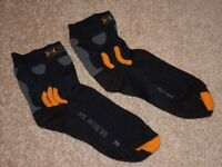 X-Socks MTB Whether Repellent Cycle Socks - Size 42-44 - Excellent Condition