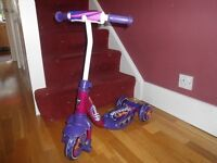 pink and purple childerns girls scooter