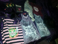 Bundle joblot of Skull themed things - Tops - Bag - Wallet - purse etc in great condition- Gothic -