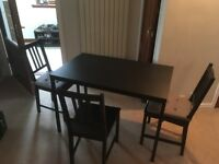 Ikea table and chairs £15