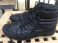 Leather Vans size 6