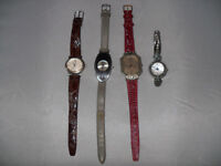 4 x Ladies Womens Wristwatches Watches (Job Lot) Guess, Le Chat, PeersHardy, Pia