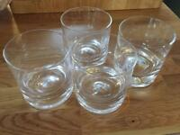 4 x Darlington lead crystal dimple old fashioned whiskey tumblers