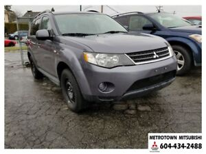 2009 Mitsubishi Outlander LS 4WD; Local one owner vehicle!