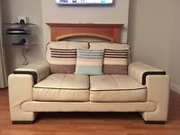 Cream/Brown Leather Suite