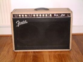 1961 FENDER BLONDE TWIN AMP